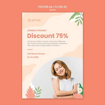 Flyer template for spring