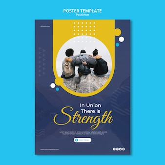 Flyer template for staying positive