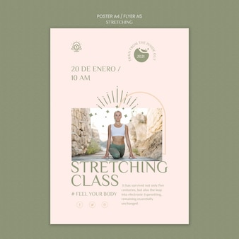 Flyer template for stretching course