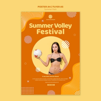 Flyer template for summer vacation
