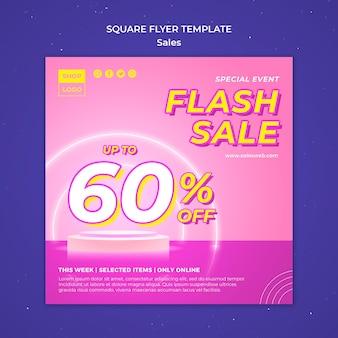 Flyer template for super sale