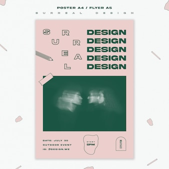 Flyer template surreal design