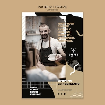 Flyer template theme for coffee shop