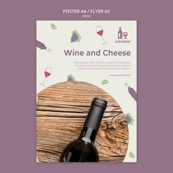 Modello di volantino per degustazione di vini
