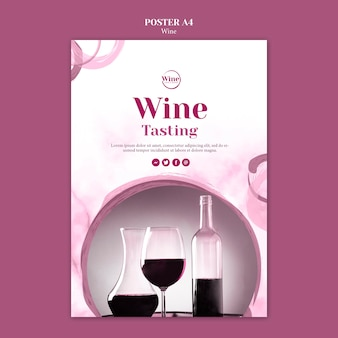 Flyer template for wine tasting