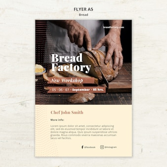 パンとチラシテンプレート