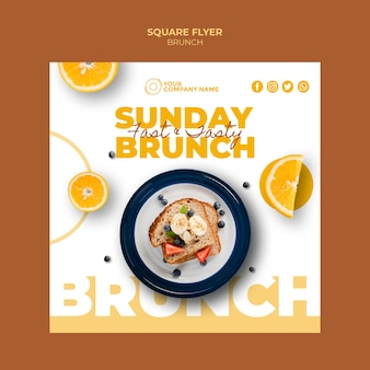 Flyer template with brunch theme