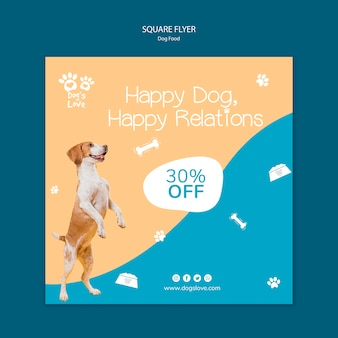 Flyer template with dog food