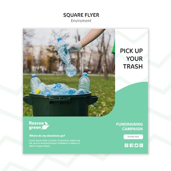 Flyer template with environment theme