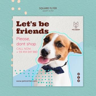 애완 동물 입양 디자인 전단지 서식 파일