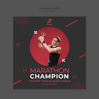 Flyer template withsport and tech