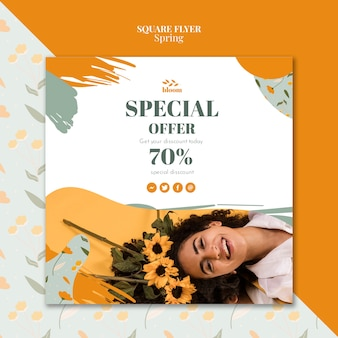 Flyer template with spring sale