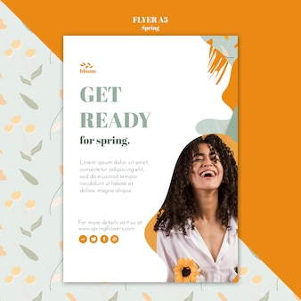 Flyer template with spring