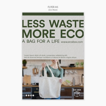 Flyer template with zero waste