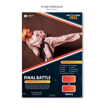 Flyer template for women's self-defense class