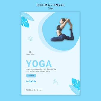 Flyer template for yoga exercise