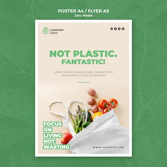 Flyer template for zero waste