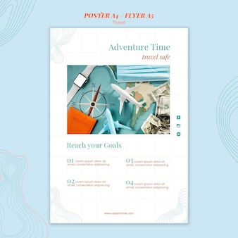 Flyer travel agency template