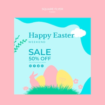 Flyerwith easter sales theme