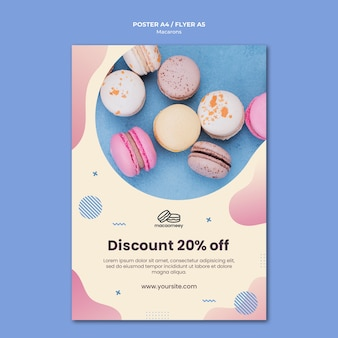 Flyer with macarons