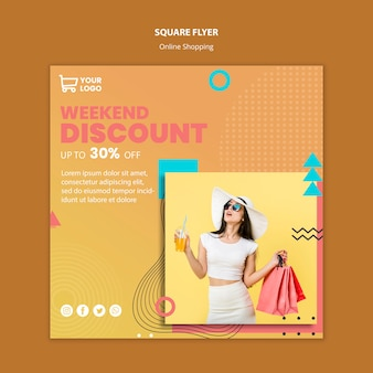 Flyer with online shoppings