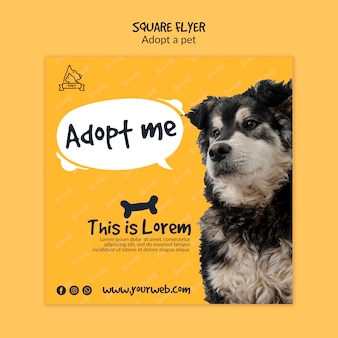Flyer with pet adoption