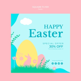 Flyer with thematic easter sales