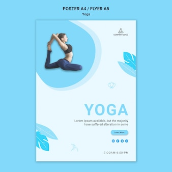 Flyer for yoga exercise