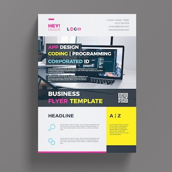 Шаблон бизнес-flyer