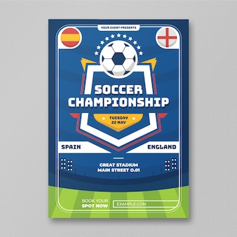 Flyer чемпионата по футболу