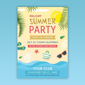 Летняя вечеринка flyer