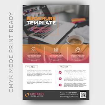 Шаблон дизайна современного бизнес-flyer