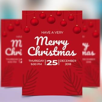 Рождественская вечеринка flyer