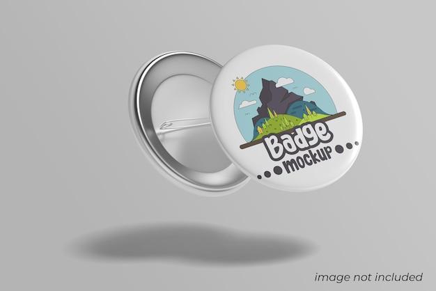 Flying badge mockup design isolated