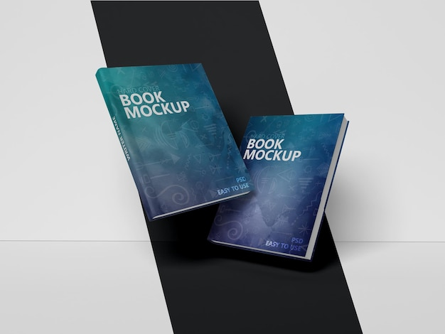 分離されたフライングブックのモックアップデザイン