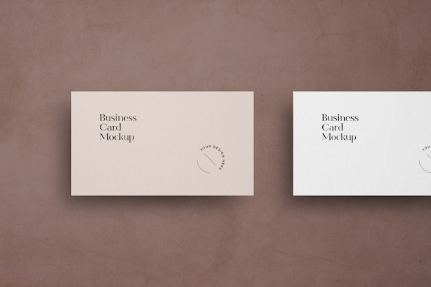 Flying business card mockup