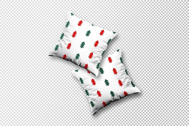 Flying christmas pillows mockup