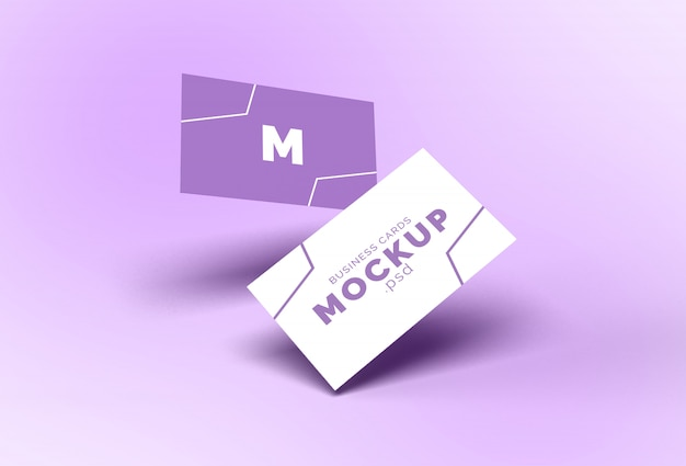 Летающий макет визитки