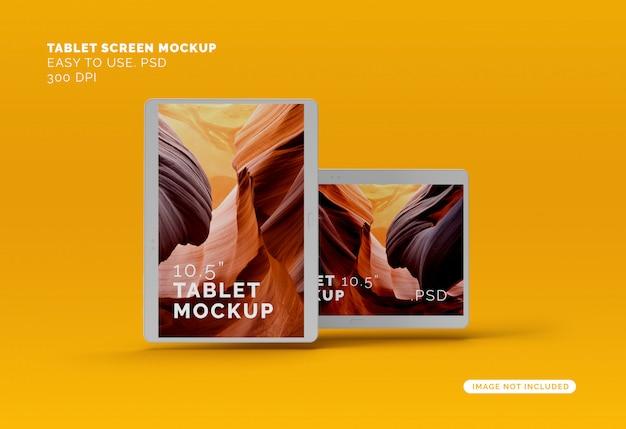 Flying tablets mockup
