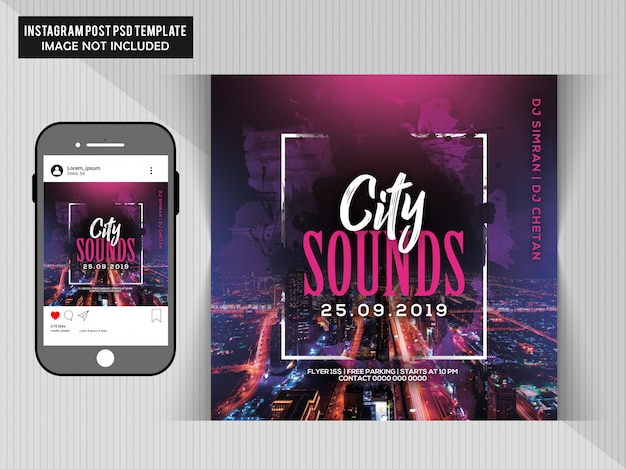 Flys city sounds party flyer