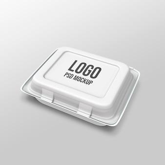 Foam food container mockup 3d rendering design