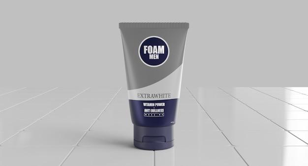 Foam mockup 3d render model for product packaging design