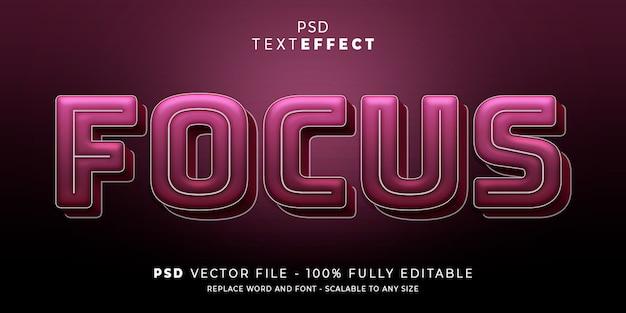 Фокус текстового эффекта