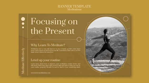 Focusing on present banner template