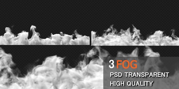 Fog smoke ground design rendering isolated Premium Psd