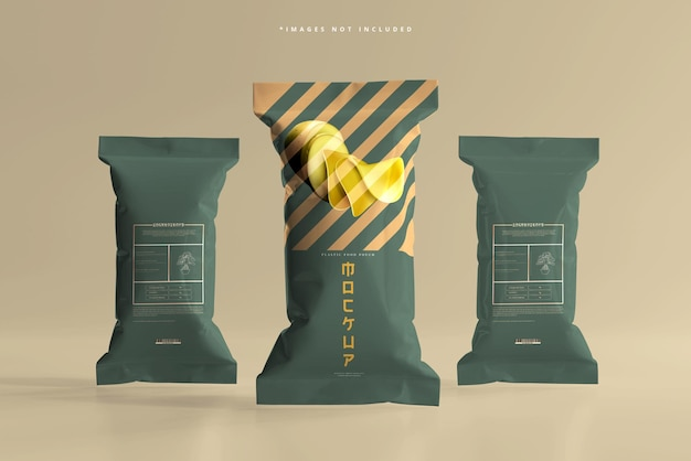 Мокап упаковки еды из фольги