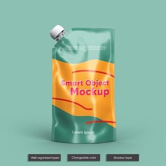호일 과일 주스 포장 모형