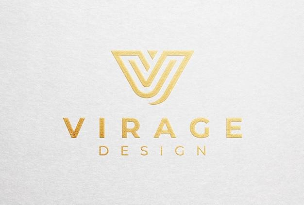 Foil stamping gold logo mockup