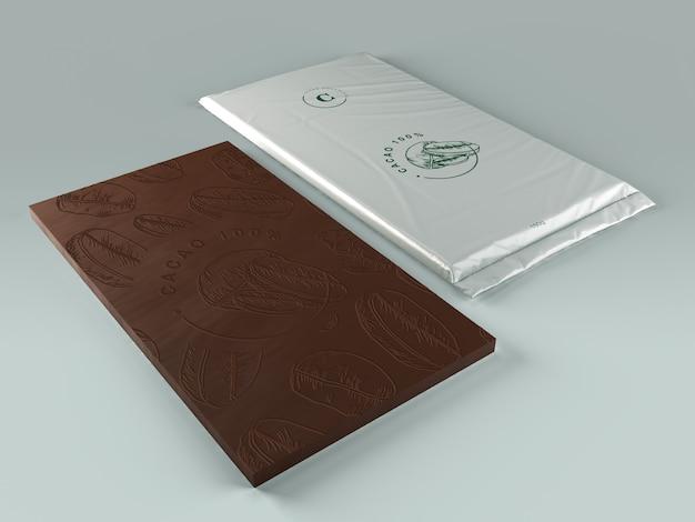 Avvolgere un foglio per il modello di cioccolato