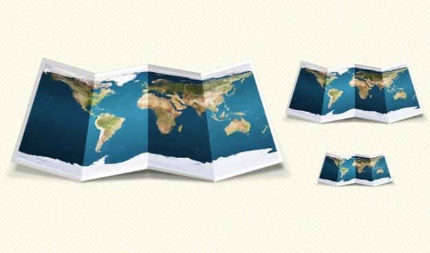 Fold graphic map ui